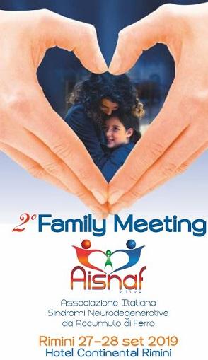 2° Family Meeting - AISNAF (Associazione Italiana Sindromi Neurodegenerative da Accumulo di Ferro)